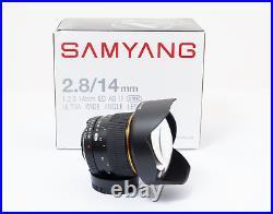 Nikon fit Samyang 14mm f/2.8 UMC Aspherical IF ED Lens FX digital