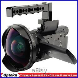 Opteka 0.3x Ultra Fisheye Lens for Sony DCR-VX1000 FDR-AX33 HDR-PJ790 HXR-NX30