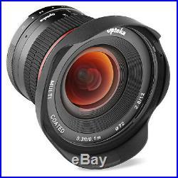 Opteka 12mm f/2.8 Manual Wide Angle Lens for Nikon 1 J5 J4 J3 J2 J1 S2 S1 V3 V2