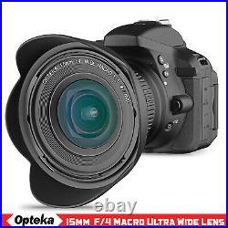 Opteka 15mm f/4 11 Macro Wide Angle Lens for Nikon D850 D810 D800 D700 D750 Df