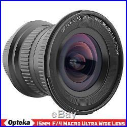 Opteka 15mm f4 11 Macro Wide Angle Lens for Nikon D5600 D5500 D5300 D5200 D5100