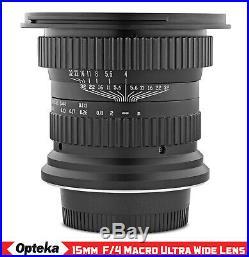 Opteka 15mm f4 11 Macro Wide Angle Lens for Nikon D7500 D7200 D7100 D7000 D5000