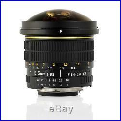 Opteka 6.5mm HD Fisheye Lens for Nikon DSLR D300 D300s D600 D610 D700 D70 D70s