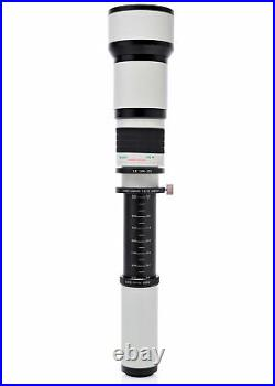 Opteka 650-1300mm f/8 HD Telephoto Zoom Lens for Canon EOS Digital SLR Cameras
