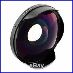 Opteka Titanium Series 0.3x HD Fisheye Lens for 58mm Video Camera Camcorders