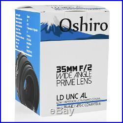 Oshiro 35mm f/2 Full Frame Lens for Sony E a9 a7R a7s a7 II III IV