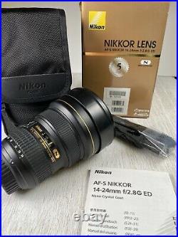 PRISTINE Nikon AF-S NIKKOR 14-24mm F/2.8G Ultra Wide Angle Lens