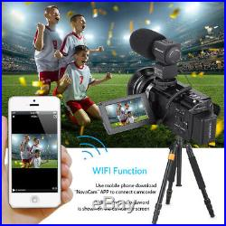 Professional Video Camera 4K Ultra HD 48MP Digital Camcorder Wide Angle Lens