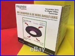 Raynox MX-3000 PRO 0.3X Semi-Fisheye ULTRA WIDE LENS to Sony VX2100 VX2000