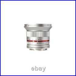 Rokinon 12mm F/2.0 Ultra Wide, Manual Focus Lens for Fujifilm X Mount, Silver