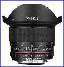 Rokinon 12mm F2.8 Super Wide Angle Fisheye Lens for Canon EF Digital SLR 12M-C