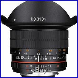 Rokinon 12mm f/2.8 Full-Frame Fisheye Lens for Nikon F Mount