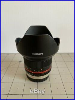 Rokinon 12mm f2.0 NCS Wide Angle Lens MFT