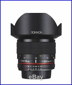 Rokinon 14mm F2.8 Full Frame Ultra Wide Angle Lens (Canon EF)