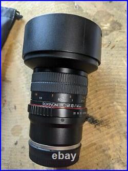 Rokinon 14mm F2.8 Lens 14/2.8 Sony E-Mount Full Frame Ultra Wide Angle Lens