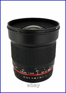 Rokinon 16mm F2.0 Ultra Wide Angle Lens for Canon EOS Model 16M-C