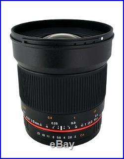 Rokinon 16mm F2.0 Ultra Wide Angle Lens for Canon, Nikon, Sony, MFT, Pentax +