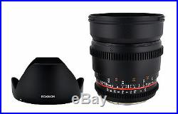 Rokinon 16mm T2.2 Ultra Wide Angle Cine Lens for Canon EF-S VDSLR New Lens