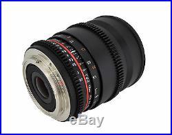 Rokinon 16mm T2.2 Ultra Wide Angle Cine Lens for Sony E-Mount VDSLR New Lens