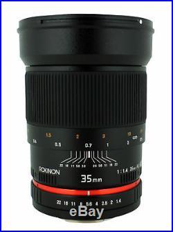 Rokinon 35mm F1.4 Ultra Fast Wide Angle Lens for Nikon Digital SLR RK35MAF-N