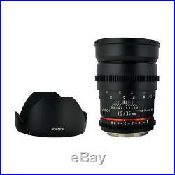 Rokinon 35mm T1.5 Cine Lens for Canon EF #CV35-C
