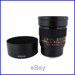 Rokinon 85mm f/1.4 AS IF UMC Manual Focus Lens Sony E Mount #85M-E