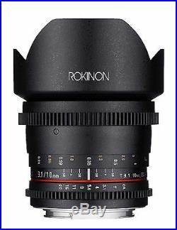 Rokinon Cine 10mm T3.1 ED AS NCS CS Cine Wide Angle Lens for Nikon
