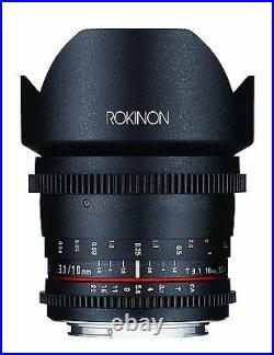 Rokinon Cine DS 10mm T3.1 Cine Wide Lens for Canon EF-S Digital SLR DS10M-C