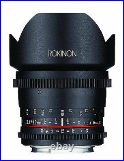 Rokinon Cine DS 10mm T3.1 Cine Wide Lens for Micro Four Thirds MFT DS10M-MFT