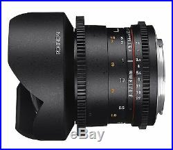 Rokinon Cine DS 14mm T3.1 ED AS IF UMC Cine Lens f/ Nikon FX & DX Mount- DS14M-N