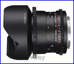 Rokinon Cine DS 14mm T3.1 ED AS IF UMC Full Frame Cine Lens f/ Canon EF- DS14M-C