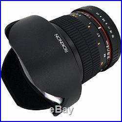 Rokinon FE14M-C 14mm F2.8 Ultra Wide Lens for Canon (Black) Fixed