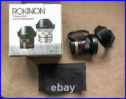 Rokinon/Samyang 12mm F/2 Wide Angle Lens For Fuji X superb used condition