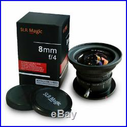 SLR Magic 8mm f/4.0 Lens for Micro Four Thirds M4/3 Cameras Panasonic Olympus