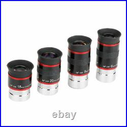 SVBONY Telescope Eyepiece Kit 1.25inch 68° 6/9/15/20mm Ultra Wide Angle Lens FMC