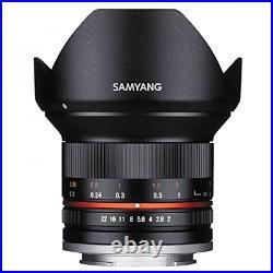 Samyang 12mm F2.0 NCS CS Ultra Wide Angle Lens for Sony E Mount Black CA1776