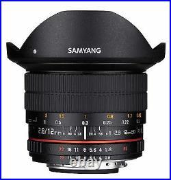 Samyang 12mm F2.8 Super Wide Angle Fisheye Lens for Nikon FX Digital SLR