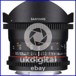 Samyang 12mm T3.1 VDSLR ED AS NCS Fisheye Lens CANON