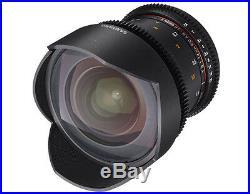 Samyang 14mm T3.1 Cine VDSLR II Version 2 ED Wide Angle Lens for Canon EOS EF