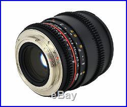 Samyang 85mm T1.5 Aspherical Cine Lens with De-clicked Aperture For Nikon