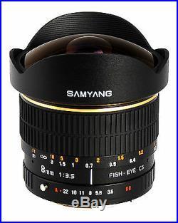 Samyang 8mm F/3.5 Fisheye Lens for Nikon D40 D60 D80 D90 D300 with Auto Chip