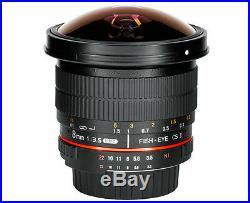 Samyang 8mm F3.5 AS UMC Fisheye CS II Hood Detachable Lens for Canon EOS DSLR