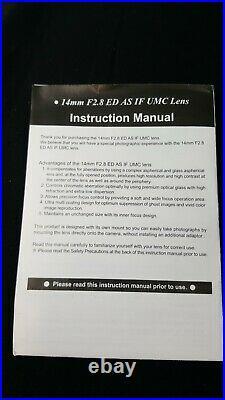 Samyang AF 14mm F2.8 Full Frame Ultra Wide Angle Lens for Canon EF Mount