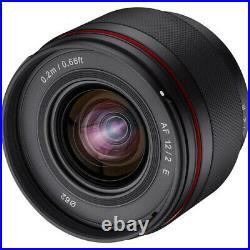 Samyang12mm f/2.0 AF Compact Ultra Wide-Angle Lens for Sony E-Mount