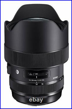 Sigma 14-24mm f/2.8 DG HSM Art Lens for Canon EF. U. S. Authorized Dealer