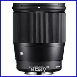 Sigma 16mm f/1.4 DC DN Contemporary Lens for Sony E-mount Cameras, Black #402965