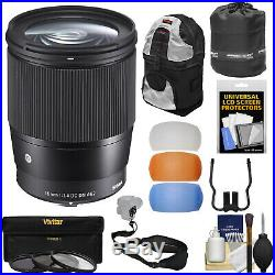 Sigma 16mm f/1.4 F1.4 Contemporary DC DN Lens Kit for Sony Alpha E-Mount Cameras