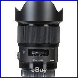 Sigma 20mm f/1.4 DG HSM Art Lens for Nikon F