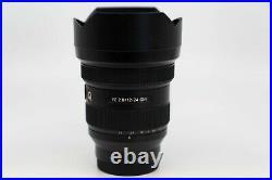 Sony FE 12-24mm F2.8 GM G Master Full Frame Ultra-wide Zoom E-Mount Lens SEL1224