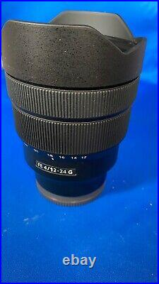 Sony FE 12-24mm F4 G Wide Angle Zoom Lens Black Lightly Used Perfect Glass